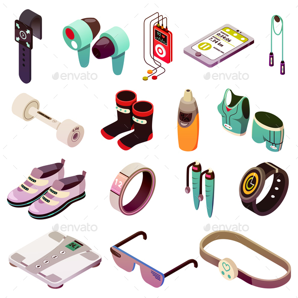 Sport Electronics Icon Set - Health/Medicine Conceptual