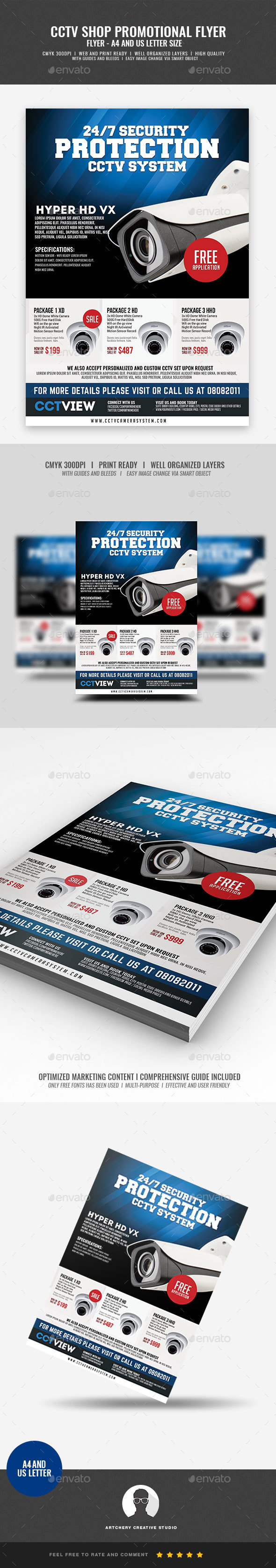CCTV Package Promotional Flyer - Corporate Flyers