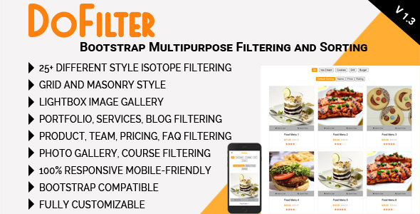 DoFilter - Bootstrap Multipurpose Filtering and Sorting - CodeCanyon Item for Sale