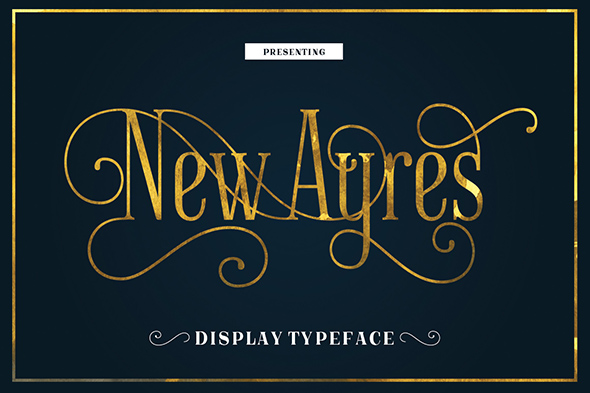 New Ayres Typeface - Fancy Fonts