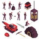 Mining Industry Isometric Icons Set - GraphicRiver Item for Sale