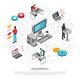 Programmers Work Isometric Background Composition - GraphicRiver Item for Sale