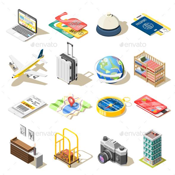 Travel Isometric Icons - Travel Conceptual