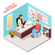 Diabetes Doctor Patient Isometric Composition