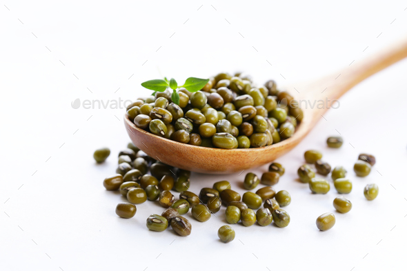 Green Mung Beans   - Stock Photo - Images
