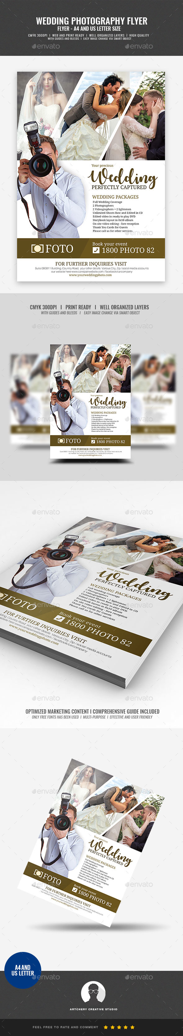 Wedding Photography Services Flyer - Corporate Flyers