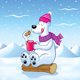 Polar Bear with Hot Cocoa - GraphicRiver Item for Sale