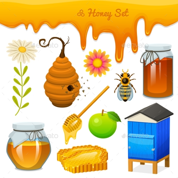 Honey Set - Food Objects