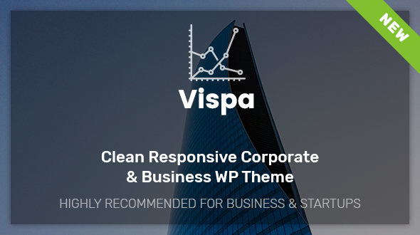 Vispa for Startups - Responsive Business WordPress Theme