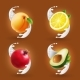 Fruits in Milk Splash Set - GraphicRiver Item for Sale