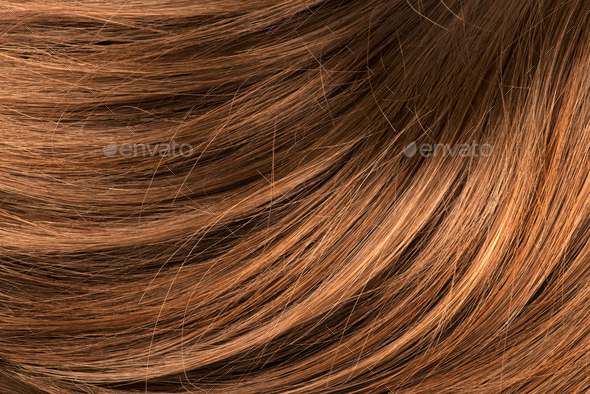 Wavy red human hair - Stock Photo - Images