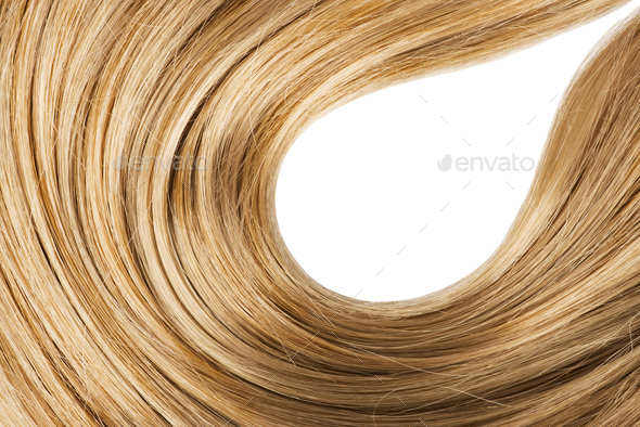 Wavy blond human hair - Stock Photo - Images