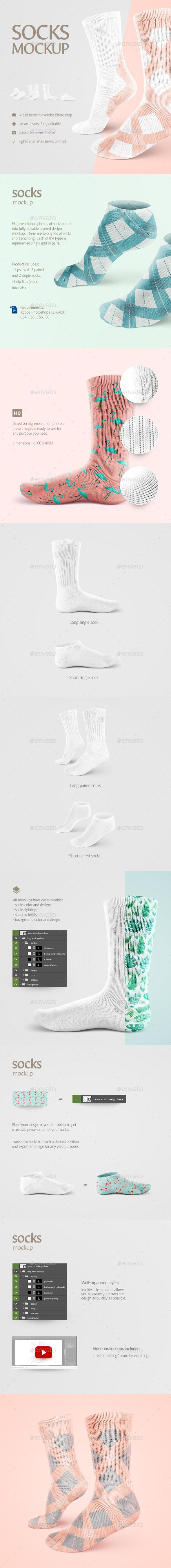 Socks Mockup - Miscellaneous Apparel