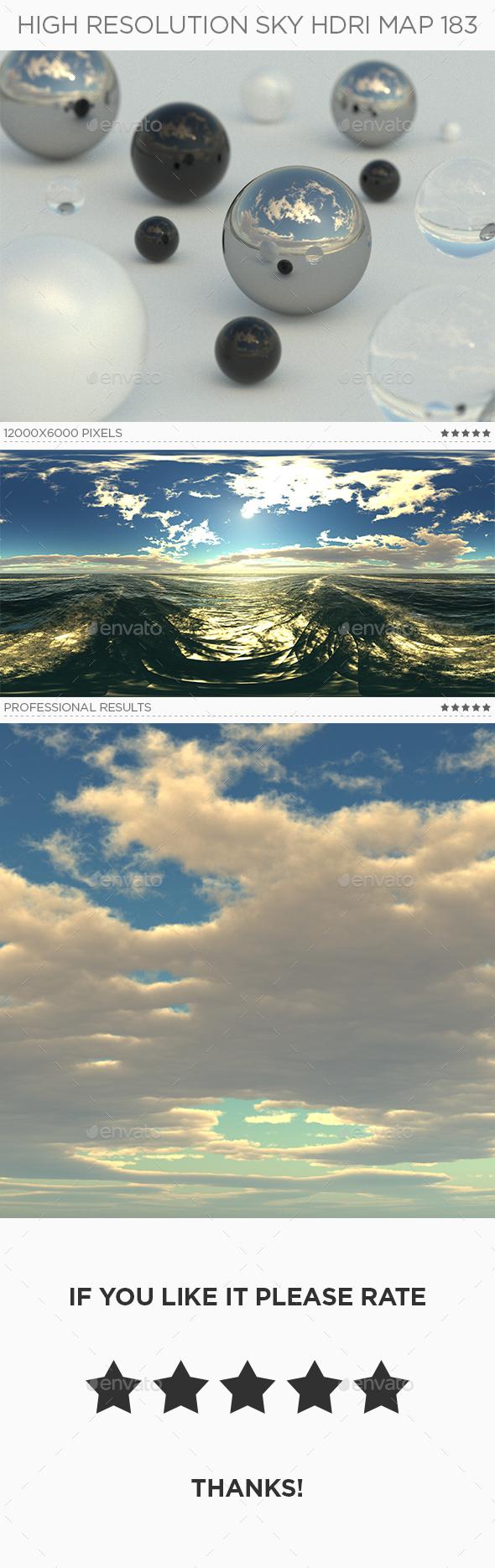 High Resolution Sky HDRi Map 183 - 3DOcean Item for Sale