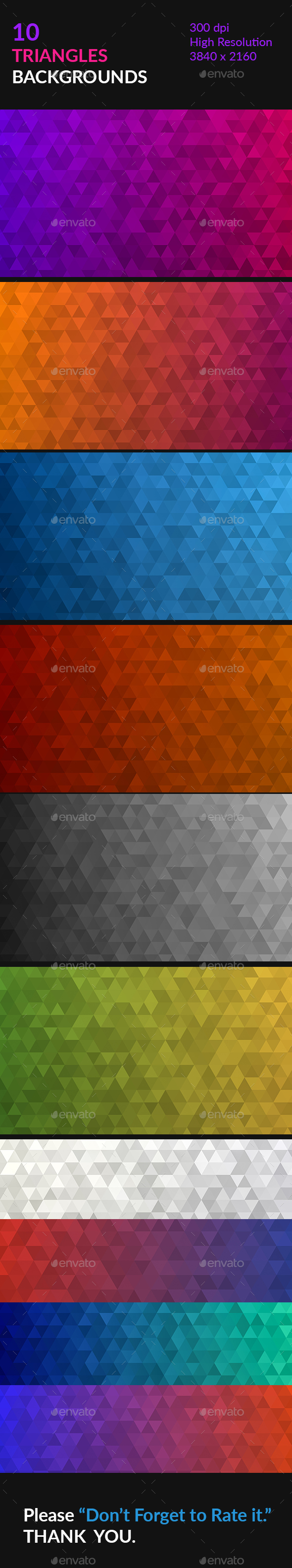 Triangles Backgrounds - Abstract Backgrounds