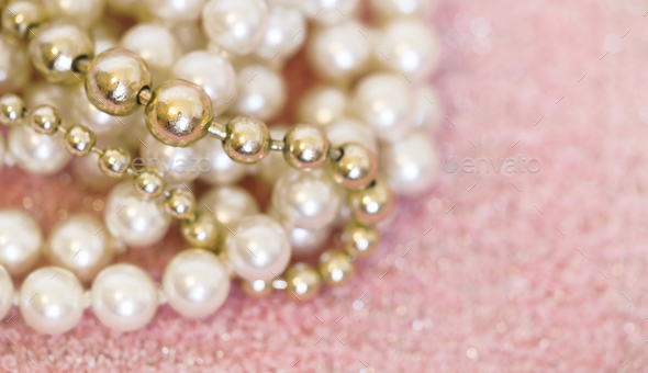 Pearls jewelry gift  - Stock Photo - Images