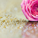 Pink flower greeting card background or web banner idea - PhotoDune Item for Sale