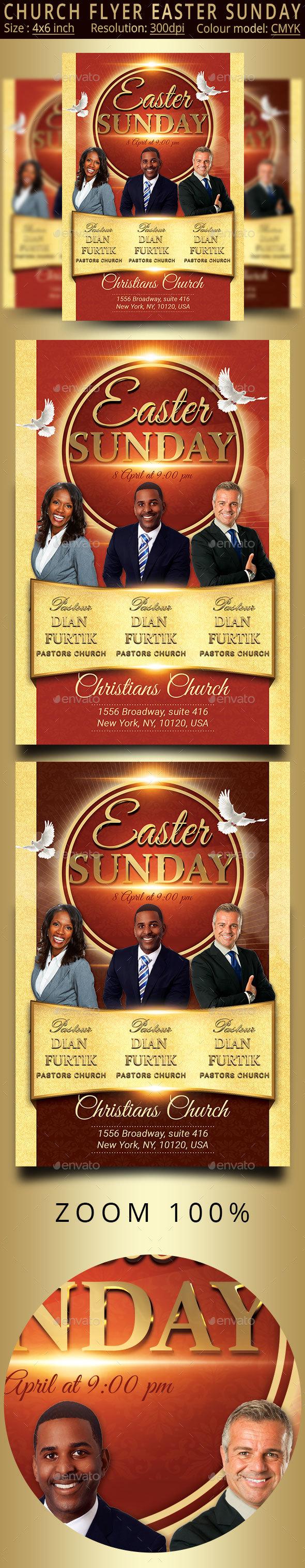 Easter Sunday Church Flyer - Church Flyers