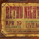 Retro Party Event Ticket - GraphicRiver Item for Sale