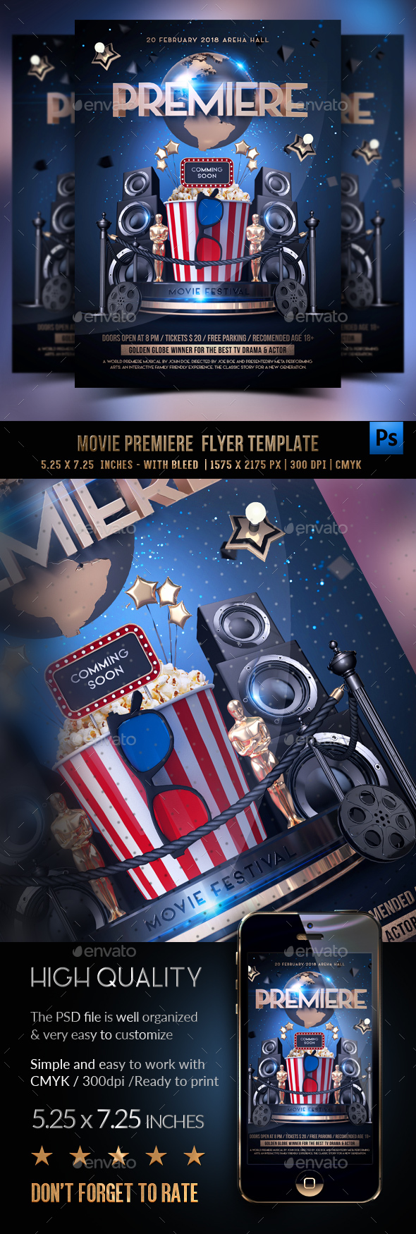 Premiere Movie Flyer - Clubs & Parties Events