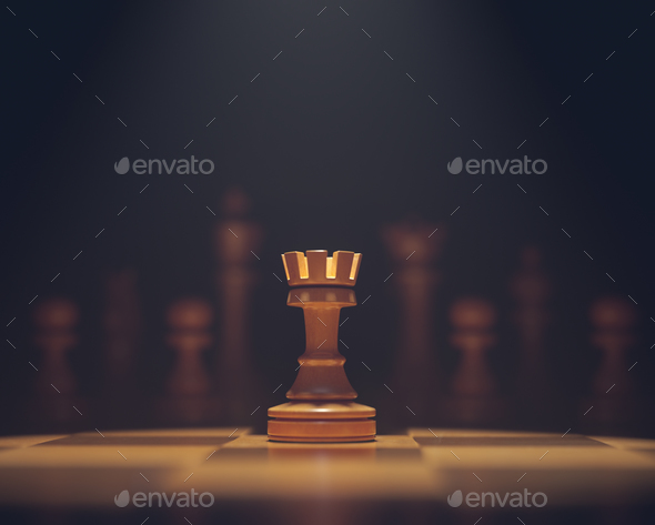 The Rook In Highlight - Stock Photo - Images