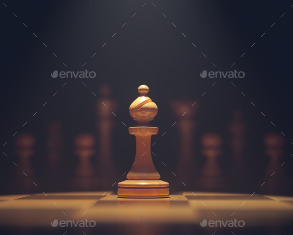 The Bishop In Highlight - Stock Photo - Images