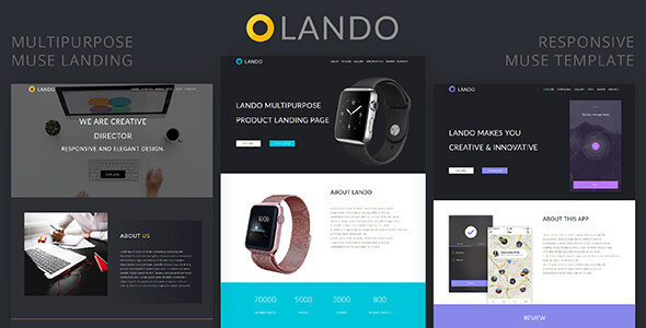 Super Lando_Multipurpose Muse Landing Page