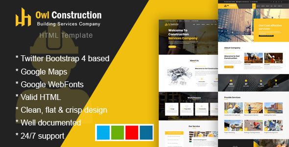 Owl - Construction Template for Architect by goldey