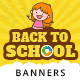 Back To School Banner Set - GraphicRiver Item for Sale