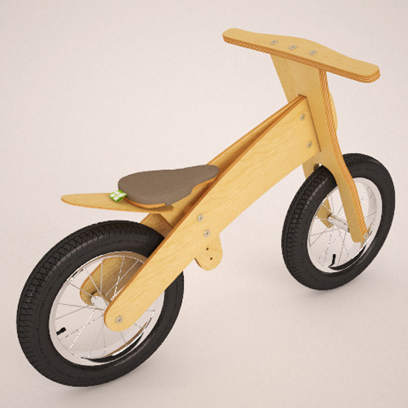 Wood bike - 3DOcean Item for Sale