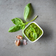 Pesto sauce on grey table - PhotoDune Item for Sale