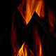 Log Fire Burns At Night - VideoHive Item for Sale