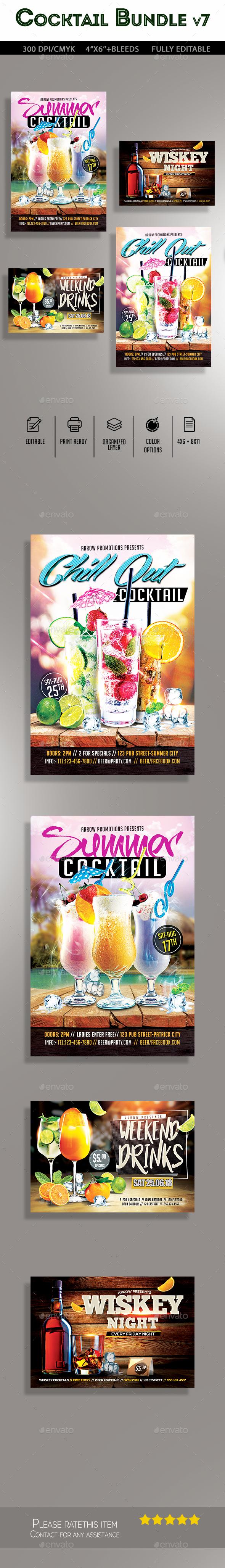 Cocktail Flyer Bundle - Clubs & Parties Events