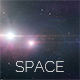 Space Background with Glow Stars 4K - VideoHive Item for Sale
