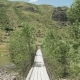 Suspension Bridge Nearby Khertvisi Fortress - Georgia - VideoHive Item for Sale