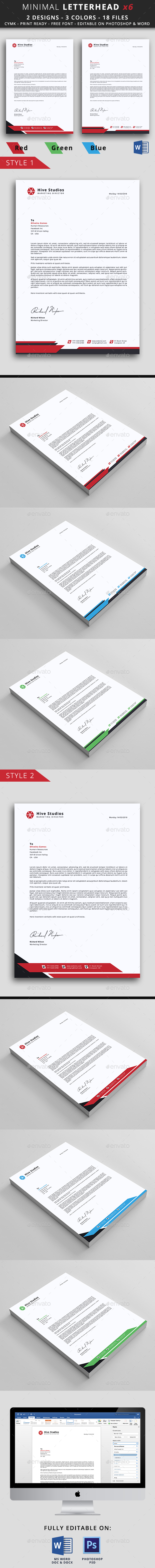 Letterhead template by mouradi graphicriver letterhead template stationery print templates spiritdancerdesigns Images