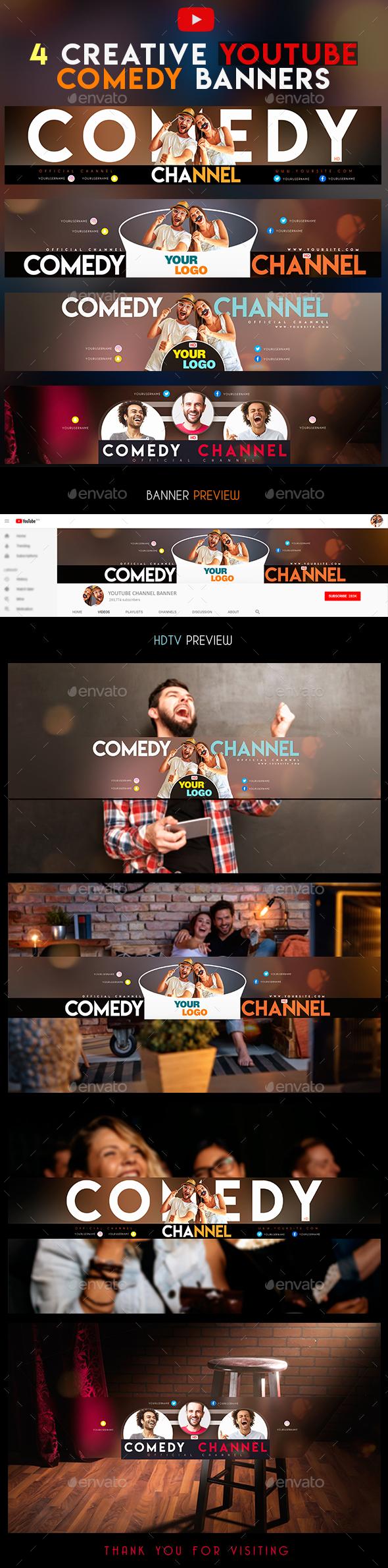 YouTube Comedy Banner - YouTube Social Media