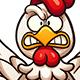 Flying Cartoon Chickens