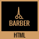 Barber - A Creative Landing Page HTML Template
