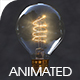 Incandescent Bulb with Lighting up Animation