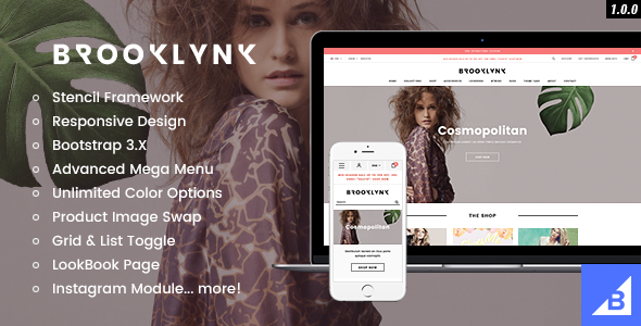 Brooklynk - Premium Responsive Fashion Bigccommerce Template - BigCommerce eCommerce