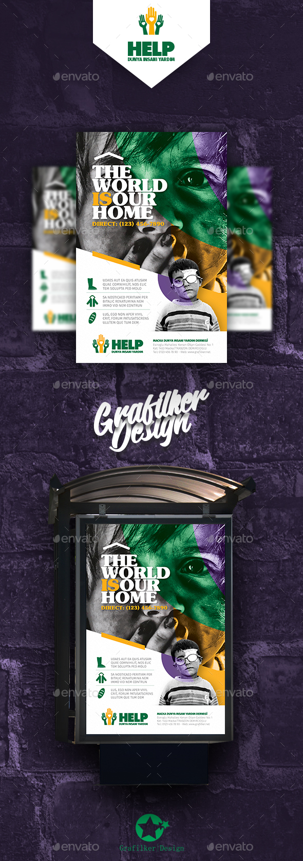 Charity Poster Templates - Signage Print Templates