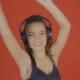 Girl Having Fun Listening To Music - VideoHive Item for Sale