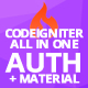 CodeIgniter ion-auth Template With Material CSS