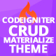 CodeIgniter Grocery CRUD Materialize Theme