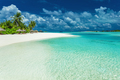 Tropical coastline with palm trees and beautiful sand. Exotic be - PhotoDune Item for Sale