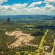 Aerial view of Glasshouse Mountains on the Sunshine Coast, Austr - PhotoDune Item for Sale