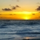 Dramatic Sunset Over Ocean Waves - VideoHive Item for Sale