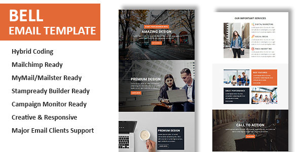 Bell - Multipurpose Responsive Email Template With Online StampReady Builder Access - Newsletters Email Templates