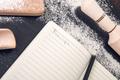 Book for recipe around utensils and flour - PhotoDune Item for Sale